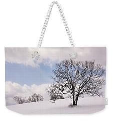 Lone Tree In Snow Weekender Tote Bag