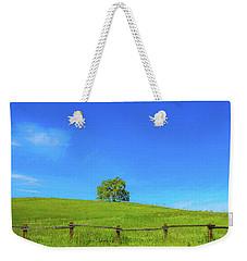 Lone Tree On A Hill Digital Art Weekender Tote Bag
