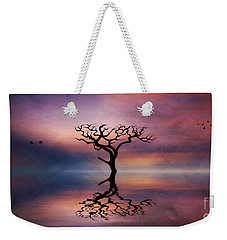 Lone Tree Sunrise Weekender Tote Bag