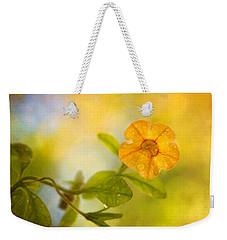 Lone Yellow Flower Weekender Tote Bag
