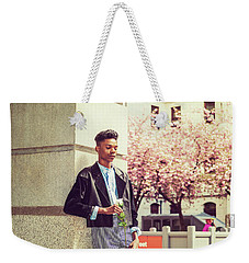 Lonely Boy With White Rose 15042643 Weekender Tote Bag