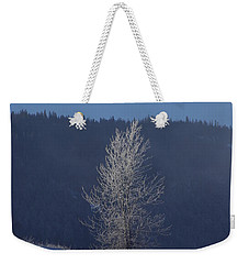 Lonely Frosty Tree Weekender Tote Bag