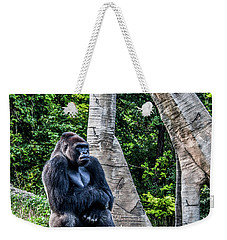 Weekender Tote Bag featuring the photograph Lonely Gorilla by Joann Copeland-Paul