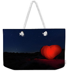 Weekender Tote Bag featuring the photograph Lonely Heart   by Tassanee Angiolillo