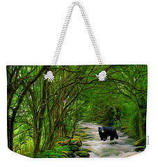 Weekender Tote Bag featuring the painting Lonely Hunter by Steven Richardson