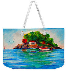 Lonely Island In Greece Weekender Tote Bag
