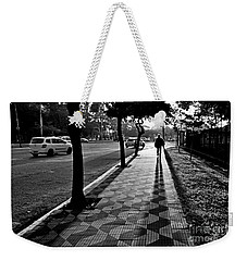 Lonely Man Walking At Dusk In Sao Paulo Weekender Tote Bag