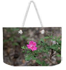 Lonely Pink Flower Weekender Tote Bag