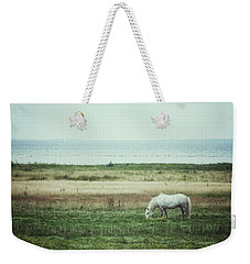 Weekender Tote Bag featuring the photograph Lonely Pony by Karen Stahlros