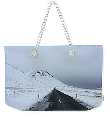 Lonely Road On Snaefellsnes Peninsula Weekender Tote Bag
