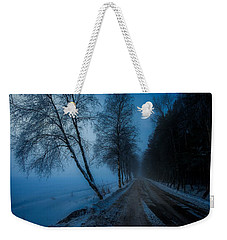 Weekender Tote Bag featuring the photograph Lonely Road Where The Moon Is Your Friend by Rose-Maries Pictures