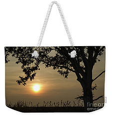 Lonely Tree At Sunset Weekender Tote Bag