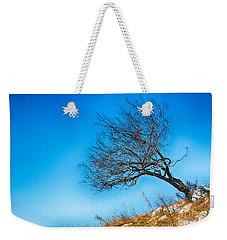 Lonely Tree Blue Sky Weekender Tote Bag