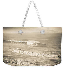 Weekender Tote Bag featuring the photograph Lonely Winter Waves by T Brian Jones