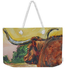 Lonesome Longhorn Weekender Tote Bag by Ron Stephens