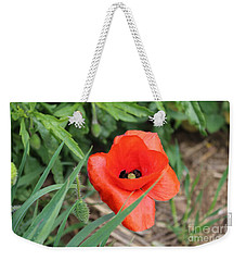 Lonesome Poppy Weekender Tote Bag
