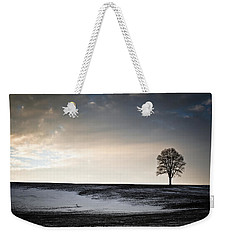 Weekender Tote Bag featuring the photograph Lonesome Tree On A Hill IIi by David Sutton