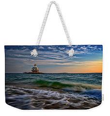 Long Beach Bar Lighthouse Weekender Tote Bag