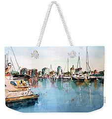 Long Beach Coastal View Weekender Tote Bag