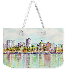 Long Beach Coastline Reflections Weekender Tote Bag