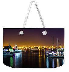 Long Beach Marina Weekender Tote Bag