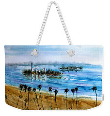 Long Beach Oil Islands Before Sunset Weekender Tote Bag