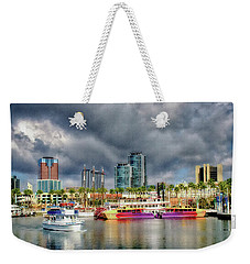 Long Beach Shoreline Marina Weekender Tote Bag