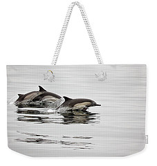Long Beaked Common Dolphin With Calf Weekender Tote Bag