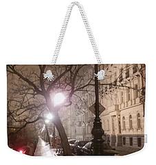 Long Cobblestone Street Of Prague Weekender Tote Bag