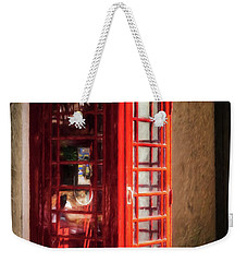 Weekender Tote Bag featuring the photograph Long Distance Call To London by Mel Steinhauer