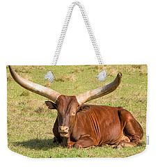 Long Horn Weekender Tote Bag