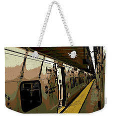 Long Island Railroad Weekender Tote Bag by George Pedro