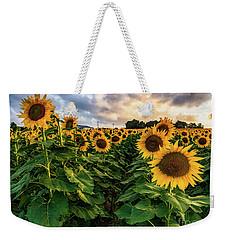 Long Island Sunflowers  Weekender Tote Bag