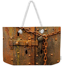 Long Locked Iron Door Weekender Tote Bag