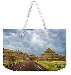 Long Lonesome Highway Weekender Tote Bag