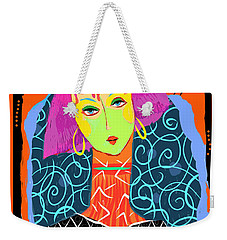 Long Neck Girl Weekender Tote Bag
