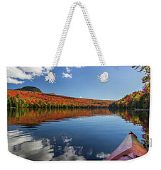Long Pond From A Kayak Weekender Tote Bag by Tim Kirchoff