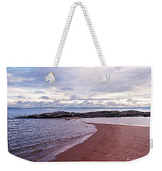 Long Rock In Lake Superior Weekender Tote Bag