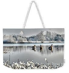 Geese At Long Run Pond Weekender Tote Bag