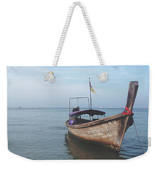 Weekender Tote Bag featuring the photograph Long Tail Boat Stillness by Ivy Ho