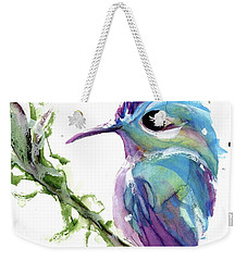 Weekender Tote Bag featuring the painting Long-tailed Sylph by Dawn Derman