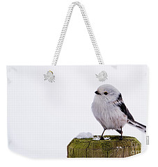 Long-tailed Tit On The Pole Weekender Tote Bag by Torbjorn Swenelius