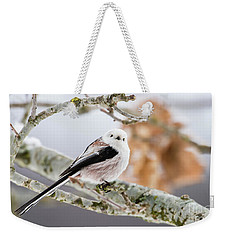 Weekender Tote Bag featuring the photograph Long-tailed Tit by Torbjorn Swenelius