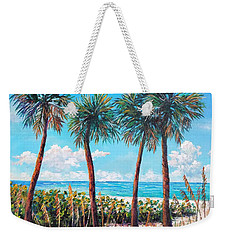 Longboat Key Palms Weekender Tote Bag by Lou Ann Bagnall