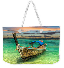 Weekender Tote Bag featuring the photograph Longboat Sunset by Adrian Evans