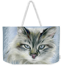 Longhaired Cat With Blue Eyes Weekender Tote Bag