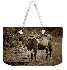 Longhorn #95 - Sepia Weekender Tote Bag