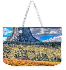 Longhorn At Devils Tower Weekender Tote Bag