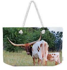 Longhorn Cattle Weekender Tote Bag by Robin Regan
