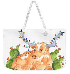 Longhorn Christmas Weekender Tote Bag